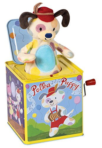 Schylling Polka Puppy Dancing Jack Box Toy