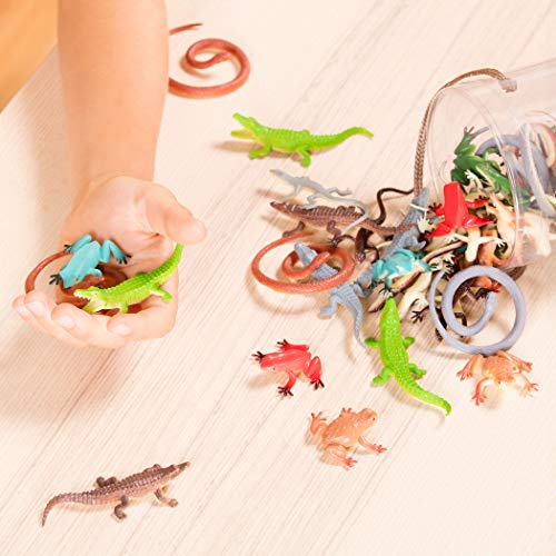 Terra By Battat â?? Reptiles In Tube â?? Assorted Reptile Animal Toys & Cake Toppers For Kids 3+ (60
