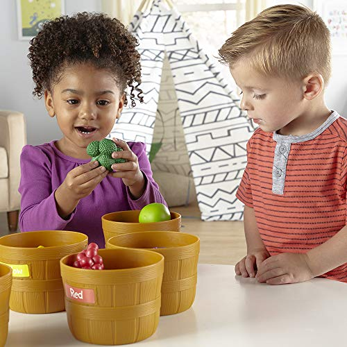 Learning Resources Farmer's Market Color Sorting Set, Homeschool, Play Food, Fruits And Vegetables T