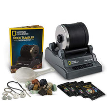 Load image into Gallery viewer, NATIONAL GEOGRAPHIC Hobby Rock Tumbler Kit - Includes Rough Gemstones, 4 Polishing Grits, Jewelry Fastenings and Detailed Learning Guide - Great STEM Science Kit for Mineralogy and Geology Enthusiasts