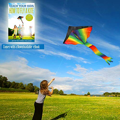 Agreatlife Huge Rainbow Kite For Kids A Kite Easy To Fly For Outdoor Games And Activities | Easy To