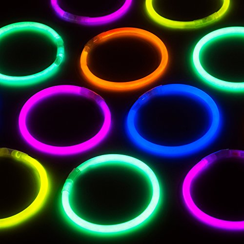 Party Sticks Glow Sticks Jewelry Bulk Party Favors 100pk With Connectors   8 Inch Glow In The Dark Pa