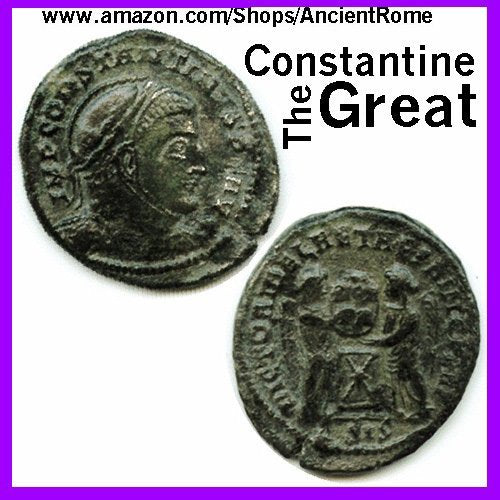 Constantine the Great - Imperial Roman Empire Bronze Coin with Certificate of Authenticity