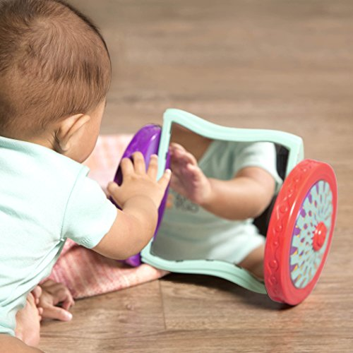 B. Toys - Looky-Looky Crawl Along Mirror - Sensory Crawling Toy for Babies