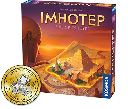 Imhotep Builder of Egypt | Family Board Game by Kosmos | 2-4 Players | Ages 10+ | Toy of The Year Finalist | Parents Choice Gold Award Winner | Toy Insider Top Holiday Toy | Spiel Des Jahres-Nominated