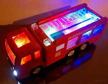 Load image into Gallery viewer, WolVol Electric Fire Truck Toy with Stunning 3D Lights and Sirens, goes Around and Changes Directions on Contact - Great Gift Toys for Kids
