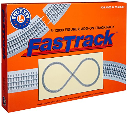 Lionel FasTrack Electric O Gauge, Figure-8 Track Add-on Pack