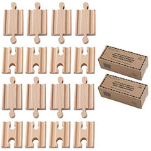 Load image into Gallery viewer, Orbrium 2X Pack of 8, 16 Pcs Toys Male-Male Female-Female Wooden Train Track Adapters Compatible with Thomas, Brio Chuggington Adapter