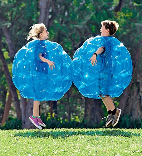 Blue BBOP Buddy Bumper Ball Inflatable Blow Up Giant Wearable Body Bubble Zorb Soccer Suit Durable PVC Vinyl Outdoor Active Play 36'' Diam