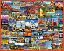 Load image into Gallery viewer, White Mountain Puzzles Best Places in America - 1000Piece Jigsaw Puzzle