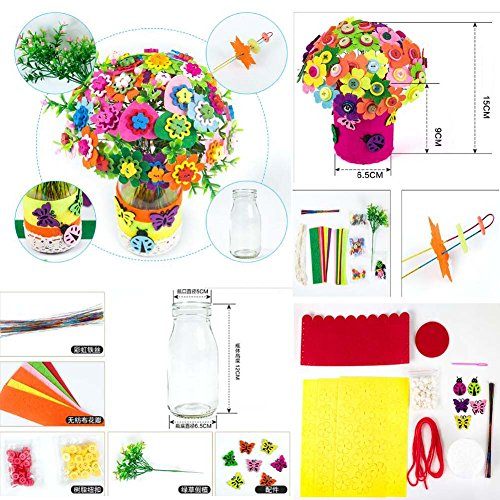 East Majik Beautiful Flowers DIY Craft Meterial Pack Meaningful Gifts Set of 2#1