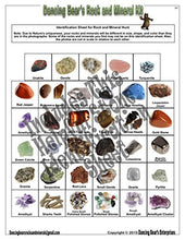 Load image into Gallery viewer, Dancing Bear Rock & Mineral Collection Activity Kit (200+Pcs) With Geodes, Shark Teeth Fossils, Arro
