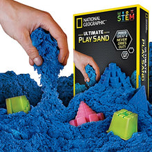 Load image into Gallery viewer, NATIONAL GEOGRAPHIC Play Sand - 2 LBS of Sand with Castle Molds and Tray (Blue) - A Kinetic Sensory Activity