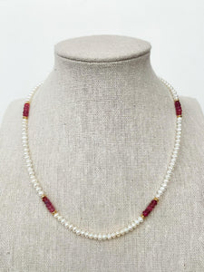 Pearl Tourmaline Necklace