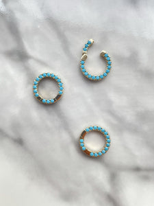 Turquoise Pavé Connector
