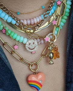 Cotton Candy Opal Necklace