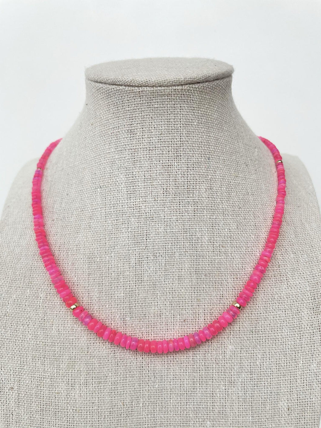 Ethiopian Pink Opal Necklace