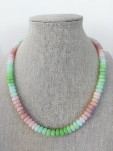 Green Apple Cotton Candy Opal Necklace