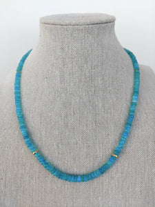 Ethiopian Blue Opal Necklace