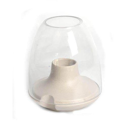 Sirocco Candle Holder - Medium - Light Grey-Candle Holder on -Homely.co.ke