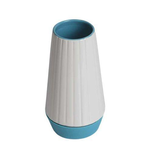 Sirocco Vase - Medium - White & Blue-Vase on -Homely.co.ke