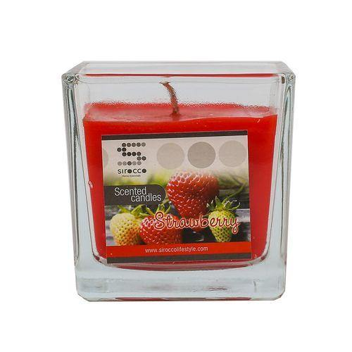 Sirocco Strawberry Scented Candle-Candle on -Homely.co.ke