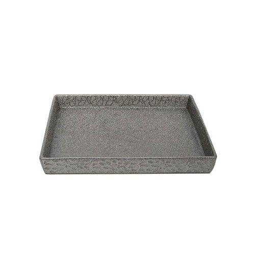Sirocco Textured Decorative Platter - Silver-Decor on -Homely.co.ke