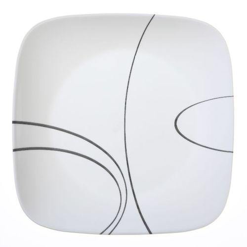 Corelle Square Luncheon Plate - Simple Lines, 22.9cm-Plates on -Homely.co.ke