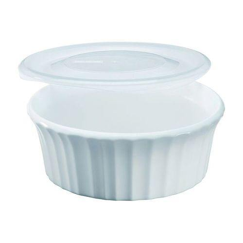 Corelle Round Baker With Clear Plastic Lid - French White, 473ml-Bakers on -Homely.co.ke