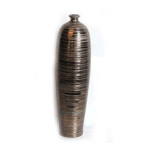 Sirocco Ceramic Vase - Small - Bronze-Vase on -Homely.co.ke