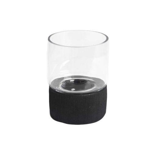 Sirocco Ceramic Candle Holder - Black-Candle Holder on -Homely.co.ke