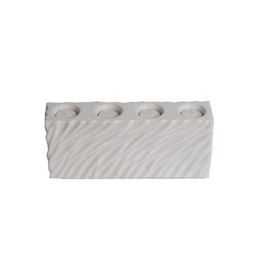 Sirocco Ceramic Tea Light Candle Holder - White-Candle Holder on -Homely.co.ke