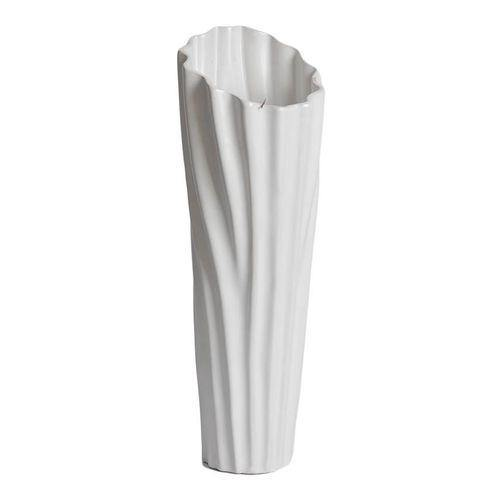 Sirocco Ceramic Vase - Small - White-Vase on -Homely.co.ke