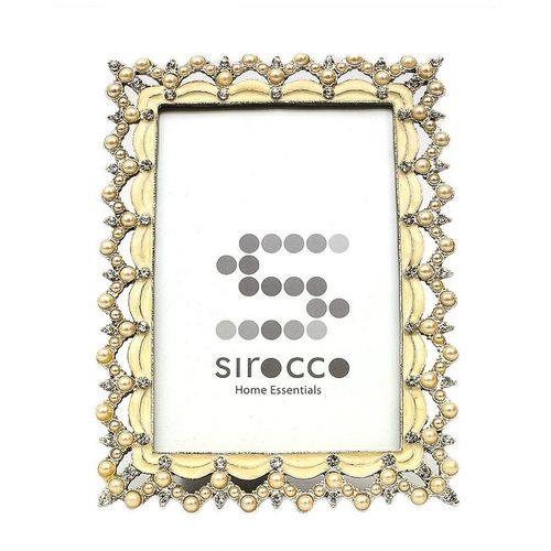 Sirocco Pearls & Diamante Photo Frame-Photo Frame on -Homely.co.ke