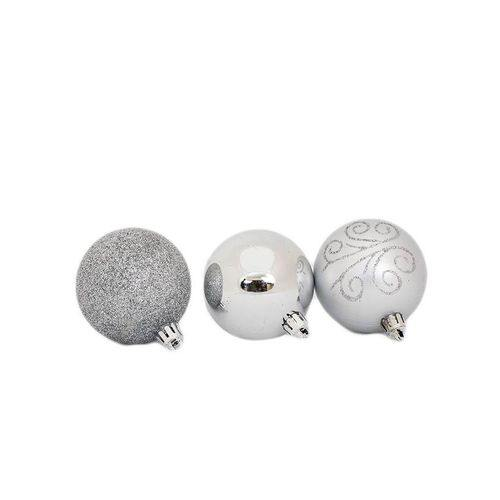 Sirocco Assorted Christmas Balls 24pcs, 6cm - Silver-Christmas Balls on -Homely.co.ke