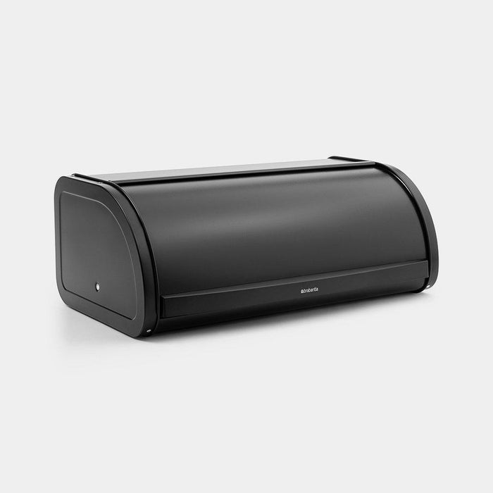 Brabantia Roll Top Bread Bin Matt Black 16 L-Bread Bin on -Homely.co.ke