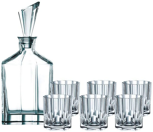 Nachtmann Aspen Whisky Decanter + Tumblers Set - 7 Pieces-Glassware on -Homely.co.ke