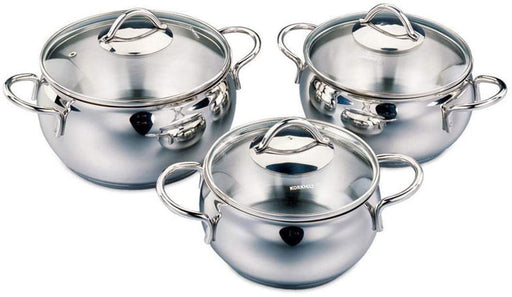 Korkmaz Tombik Jr. Cookware Set With Glass Lid - 6 Pieces-Cookware on -Homely.co.ke