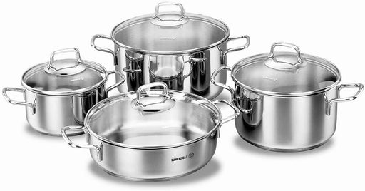 Korkmaz Perla Cookware Set With Glass Lid - 8 Pieces-Cookware on -Homely.co.ke