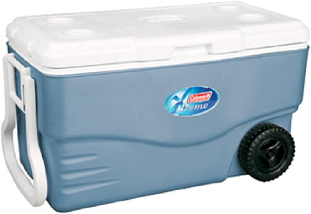 Coleman Cooler Box With Wheels - 94.6L, Blue-Coolers on -Homely.co.ke