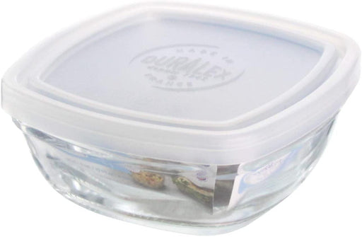 Duralex Freshbox Clear Square Bowl With Transparent Lid-Bowls on -Homely.co.ke