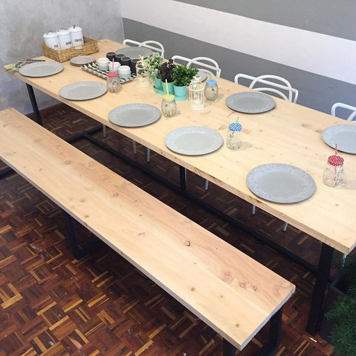 Green Furniture Dinning Table + Bench-Dining set on -Homely.co.ke