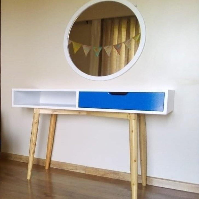 Green Furniture One Drawer Dressing Table (Doubles Up As A Desk)-Work Desk on -Homely.co.ke