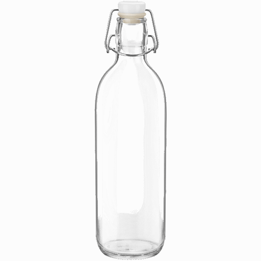 Glass Bottle With Clip Lid-Glassware on -Homely.co.ke