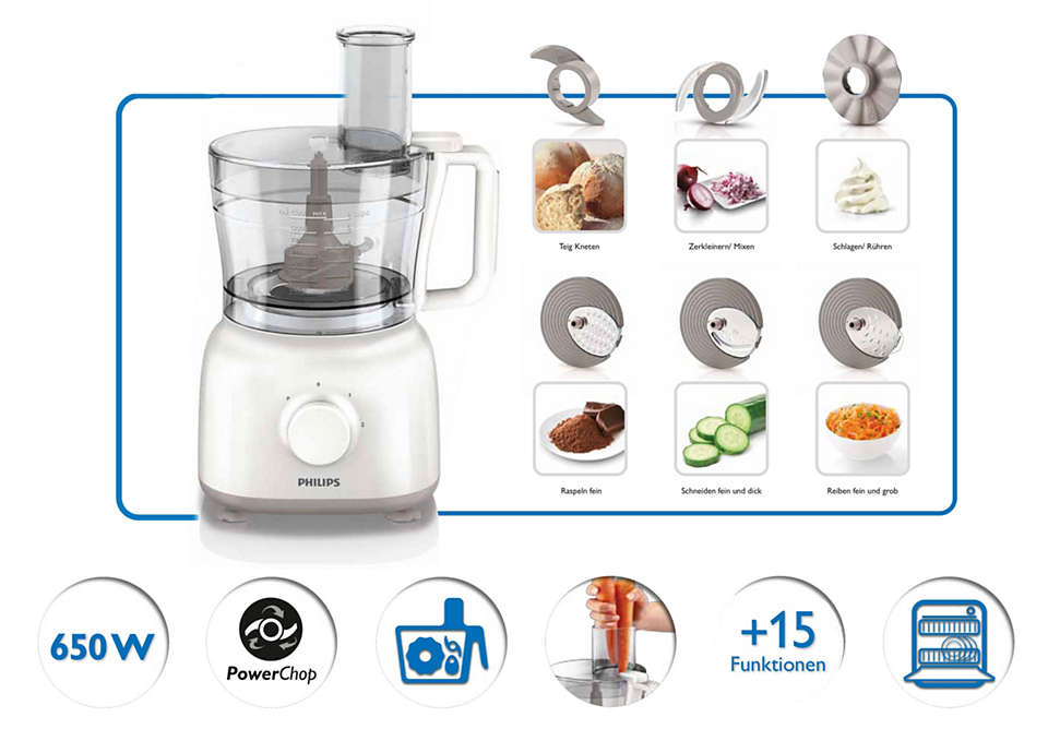 Philips Daily Collection Food Processor 650W-Food Processors on -Homely.co.ke