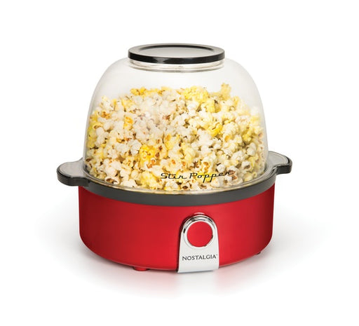 Nostalgia RetroRed Stir Popcorn Popper-POPCORN MAKERS on -Homely.co.ke