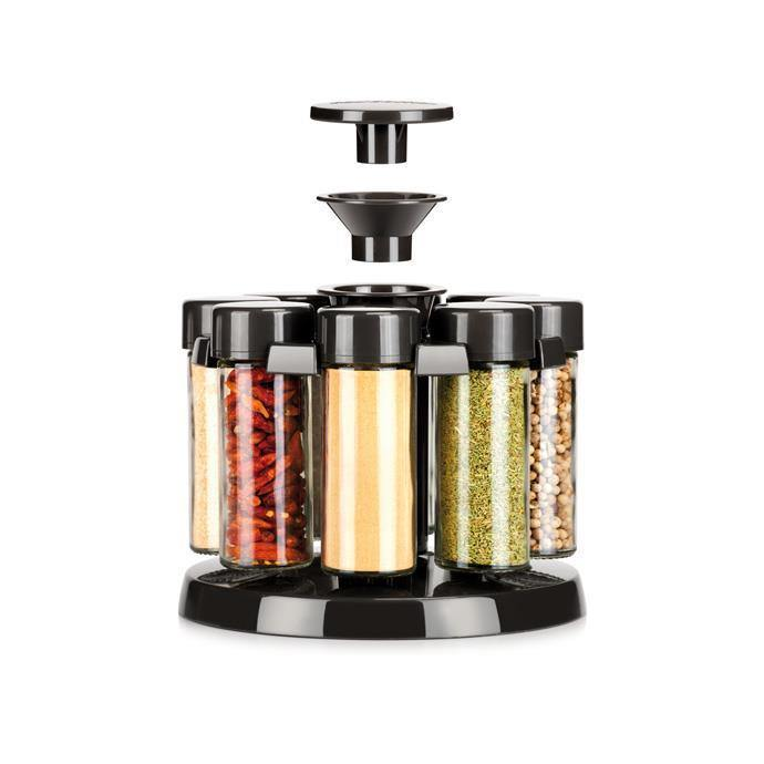 Tescoma Spice Jars in Rotating Stand - 8 Pieces-Spice Jars on -Homely.co.ke