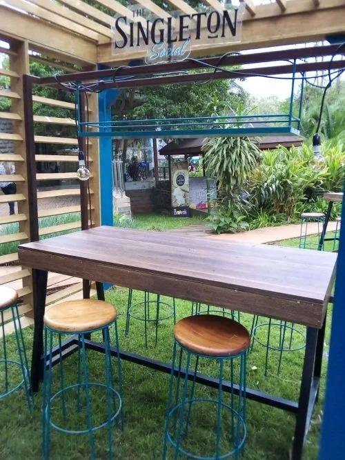 Green Furniture Outdoor Bar Stools and Table-Bar Stools And Table on -Homely.co.ke