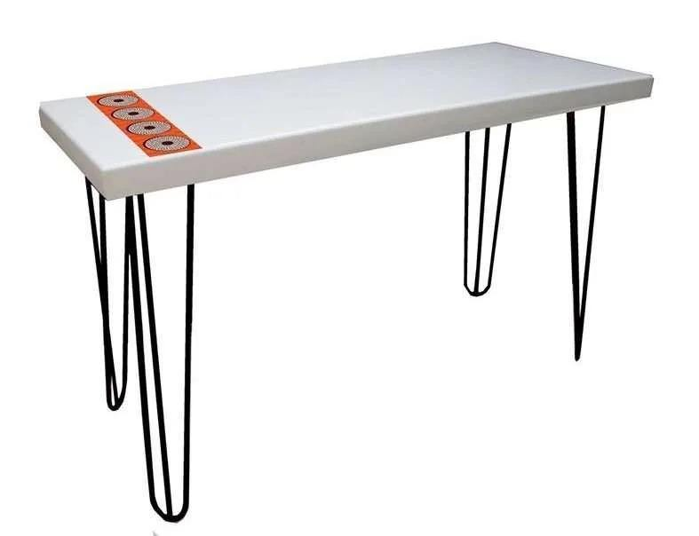 Green Furniture Ankara Inspired Table Top With Pin Legs-Work Desk on -Homely.co.ke