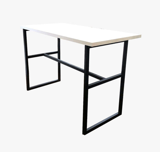 Green Furniture White Table Top With Black Metal Legs-Work Desk on -Homely.co.ke